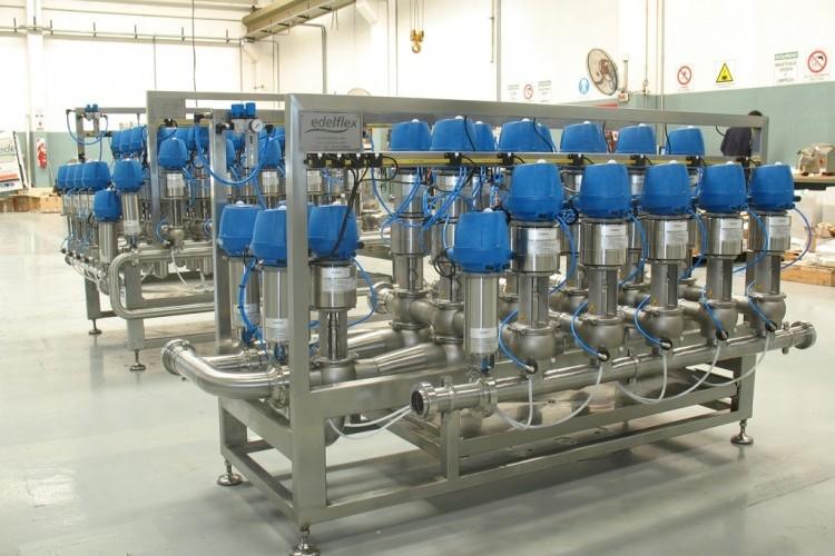 Edelflex - Reactores, Plantas Automáticas e Instalaciones. Cluster de válvulas. Valve matrix